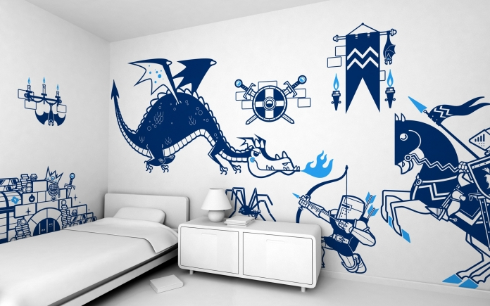 stickers-enfants-kits-thematiques-chevaliers-dragon